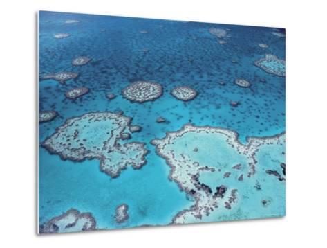 Aerial View of Great Barrier Reef, Queensland, Australia-Jurgen Freund-Metal Print
