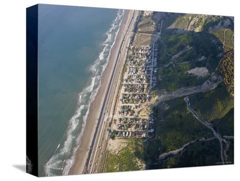 Aerial of la Conchita Mudslide That Killed Ten People in January 2005, California-Rich Reid-Stretched Canvas Print