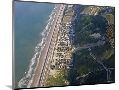 Aerial of la Conchita Mudslide That Killed Ten People in January 2005, California-Rich Reid-Mounted Photographic Print