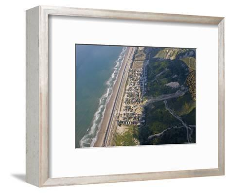 Aerial of la Conchita Mudslide That Killed Ten People in January 2005, California-Rich Reid-Framed Art Print