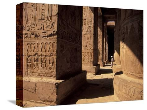 Columns with Reliefs at Karnak Temple in Luxor, Egypt-Richard Nowitz-Stretched Canvas Print