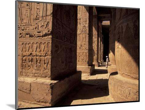 Columns with Reliefs at Karnak Temple in Luxor, Egypt-Richard Nowitz-Mounted Photographic Print