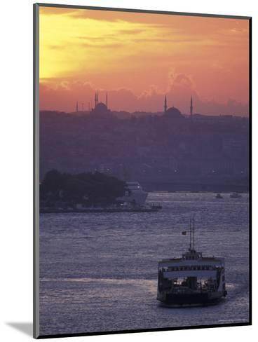 Bosporus at Sunset Facing the Golden Horn from Uskadar Ferry Port, Istanbul, Turkey-Richard Nowitz-Mounted Photographic Print