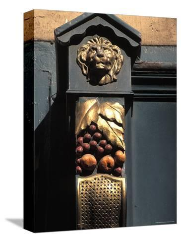 Architetural Detail of a Lion from the Front of a Store on Grafton Street in Dublin, Ireland-Richard Nowitz-Stretched Canvas Print