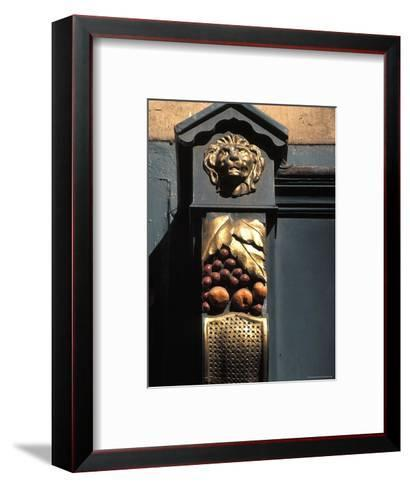Architetural Detail of a Lion from the Front of a Store on Grafton Street in Dublin, Ireland-Richard Nowitz-Framed Art Print