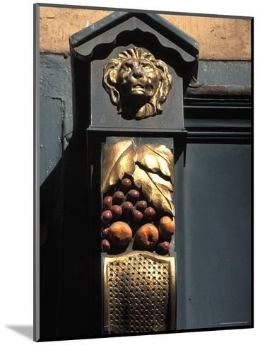 Architetural Detail of a Lion from the Front of a Store on Grafton Street in Dublin, Ireland-Richard Nowitz-Mounted Photographic Print