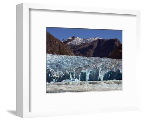 Blue Ice Along Glacier Front, Leconte Glacier, Alaska-Ralph Lee Hopkins-Framed Art Print