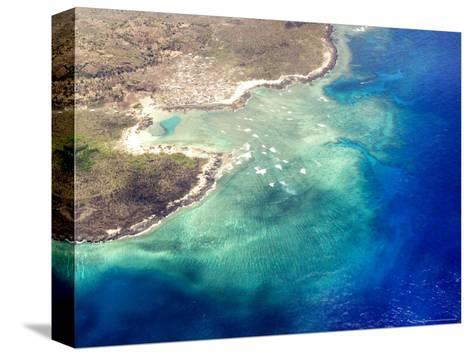 Coastal Reefs Off of the Western Comoros Islands-Michael Fay-Stretched Canvas Print