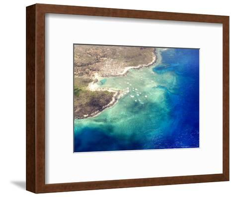 Coastal Reefs Off of the Western Comoros Islands-Michael Fay-Framed Art Print