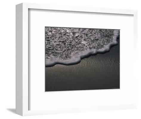 Blurred Motion of a Wave on the Shore, Ventura, California-Stacy Gold-Framed Art Print