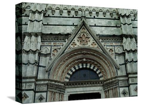 Close View of Top of One of the Portals to the Duomo di Siena, Tuscany, Italy-Todd Gipstein-Stretched Canvas Print
