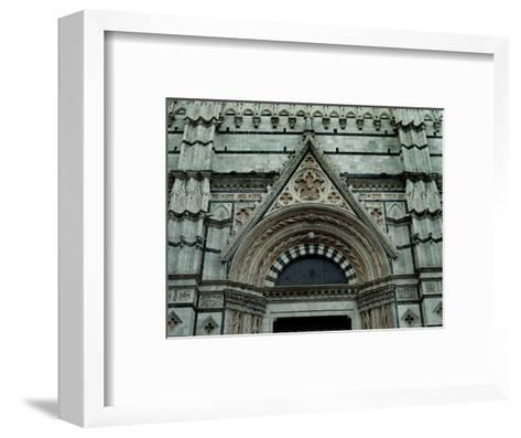 Close View of Top of One of the Portals to the Duomo di Siena, Tuscany, Italy-Todd Gipstein-Framed Art Print
