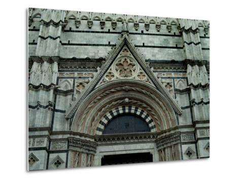 Close View of Top of One of the Portals to the Duomo di Siena, Tuscany, Italy-Todd Gipstein-Metal Print