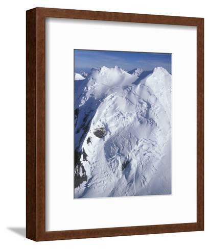 Aerial of Snow Covered Peaks and Glaciers near Mount Mckinley, Alaska-Rich Reid-Framed Art Print