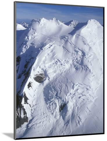 Aerial of Snow Covered Peaks and Glaciers near Mount Mckinley, Alaska-Rich Reid-Mounted Photographic Print