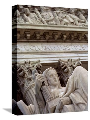 Closeup of a Statue at the Supreme Court Building, Washington, D.C.-Kenneth Garrett-Stretched Canvas Print