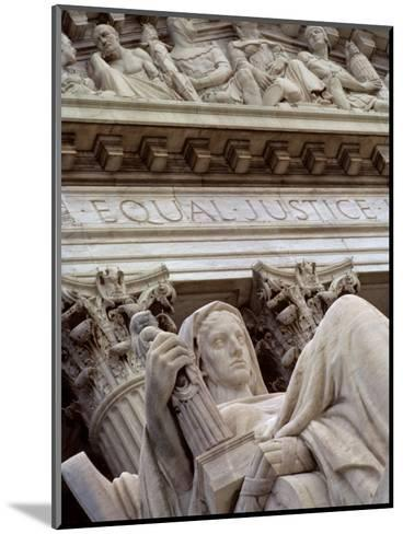 Closeup of a Statue at the Supreme Court Building, Washington, D.C.-Kenneth Garrett-Mounted Photographic Print