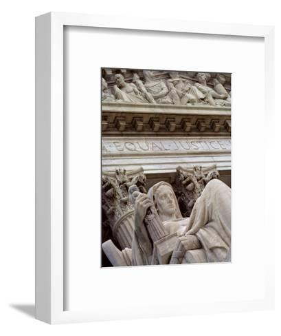 Closeup of a Statue at the Supreme Court Building, Washington, D.C.-Kenneth Garrett-Framed Art Print
