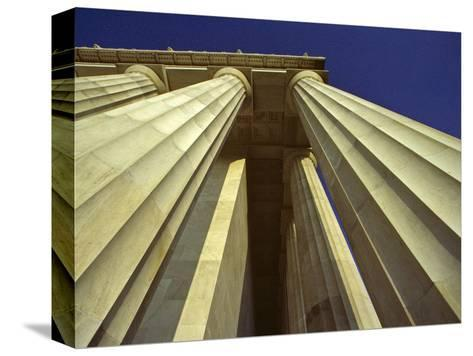 Abstract View of Columns of Lincoln Memorial, Washington, D.C.-Kenneth Garrett-Stretched Canvas Print