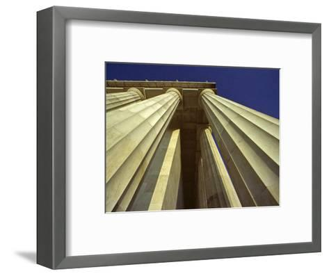 Abstract View of Columns of Lincoln Memorial, Washington, D.C.-Kenneth Garrett-Framed Art Print