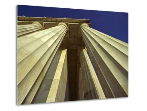 Abstract View of Columns of Lincoln Memorial, Washington, D.C.-Kenneth Garrett-Metal Print