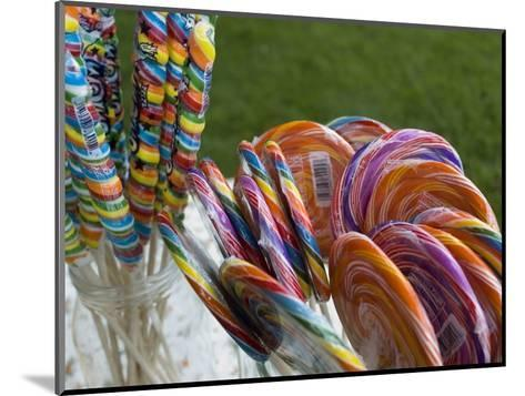 Colorful Lollypops for Sale at a Fair, Mystic, Connecticut-Todd Gipstein-Mounted Photographic Print