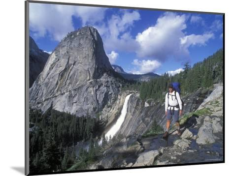 Backpacking on the John Muir Trail Past Nevada Falls and Liberty Cap-Rich Reid-Mounted Photographic Print