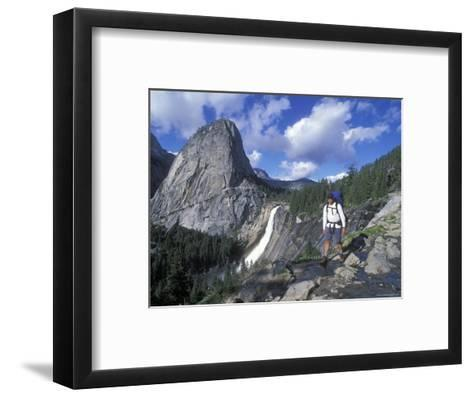 Backpacking on the John Muir Trail Past Nevada Falls and Liberty Cap-Rich Reid-Framed Art Print