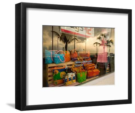 Clothing and Gift Shop Along the Waterfront, Cozumel, Mexico-Michael S^ Lewis-Framed Art Print