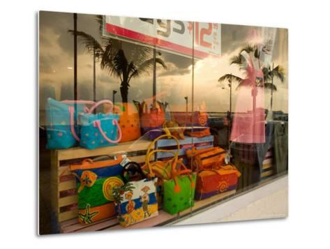 Clothing and Gift Shop Along the Waterfront, Cozumel, Mexico-Michael S^ Lewis-Metal Print
