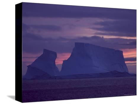 Colorful Sky and Iceberg at Twilight-Ralph Lee Hopkins-Stretched Canvas Print