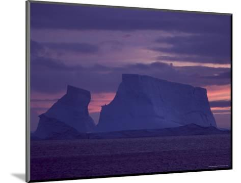 Colorful Sky and Iceberg at Twilight-Ralph Lee Hopkins-Mounted Photographic Print