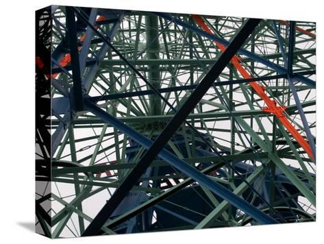 Close-Up of Ferris Wheel Mechanism, Brooklyn, New York-Todd Gipstein-Stretched Canvas Print