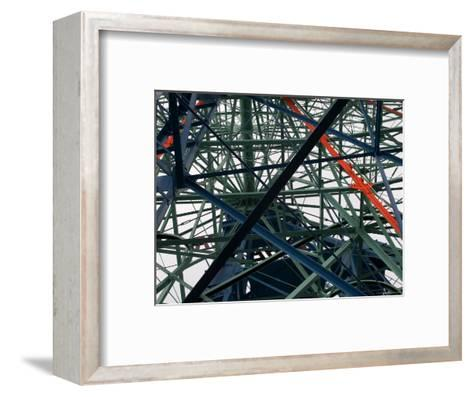 Close-Up of Ferris Wheel Mechanism, Brooklyn, New York-Todd Gipstein-Framed Art Print