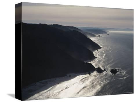 Aerial View of the Pacific Coast of Redwood National Park, California-James P^ Blair-Stretched Canvas Print