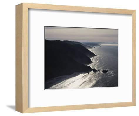 Aerial View of the Pacific Coast of Redwood National Park, California-James P^ Blair-Framed Art Print