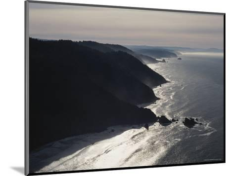 Aerial View of the Pacific Coast of Redwood National Park, California-James P^ Blair-Mounted Photographic Print