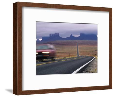 Fog Obscures Monument Valley, Utah-Bill Hatcher-Framed Art Print