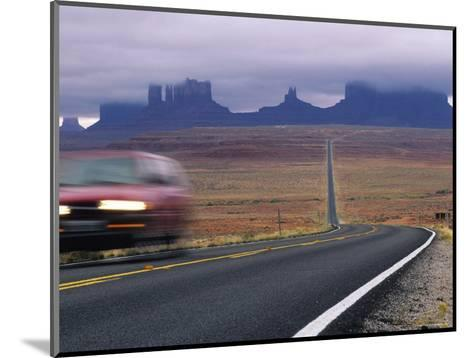Fog Obscures Monument Valley, Utah-Bill Hatcher-Mounted Photographic Print