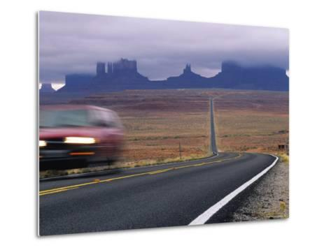 Fog Obscures Monument Valley, Utah-Bill Hatcher-Metal Print