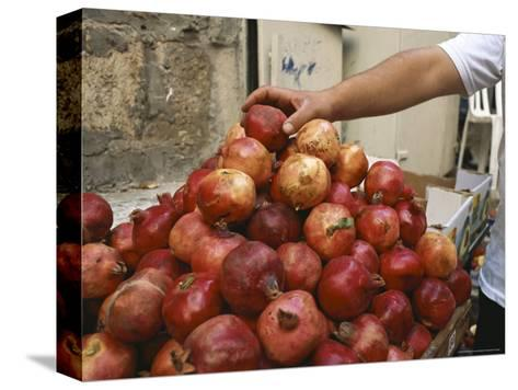 Israel, Jerusalem: Pomegranates in the Street-Brimberg & Coulson-Stretched Canvas Print