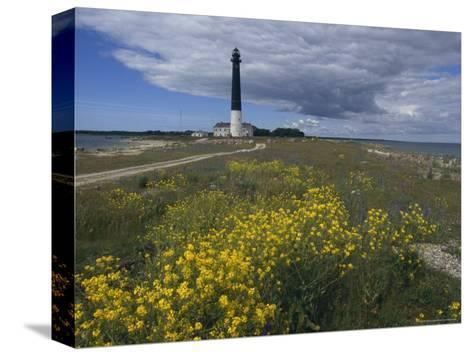 Estonia, Saaremaa: Landscape of Lighthouse-Brimberg & Coulson-Stretched Canvas Print