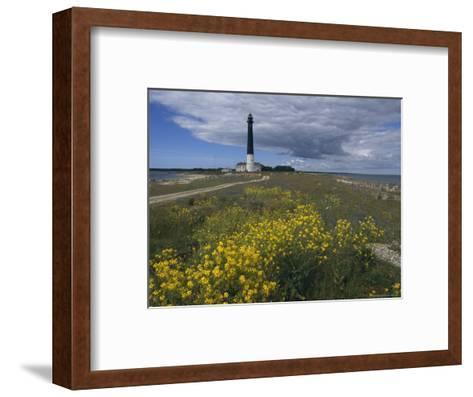 Estonia, Saaremaa: Landscape of Lighthouse-Brimberg & Coulson-Framed Art Print