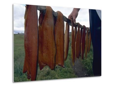 Iceland: Lake Trout Being Smoked-Brimberg & Coulson-Metal Print