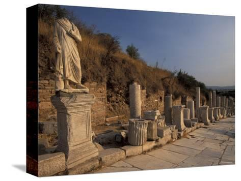 Curates Street in Ephesus, Turkey-Richard Nowitz-Stretched Canvas Print