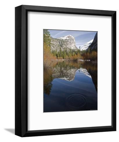 Fall Colors and Mount Watkins Reflecting in Mirror Lake, California-Rich Reid-Framed Art Print