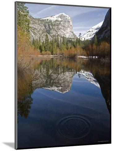 Fall Colors and Mount Watkins Reflecting in Mirror Lake, California-Rich Reid-Mounted Photographic Print