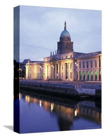 Custom House on Liffey River in Dublin, Ireland-Richard Nowitz-Stretched Canvas Print
