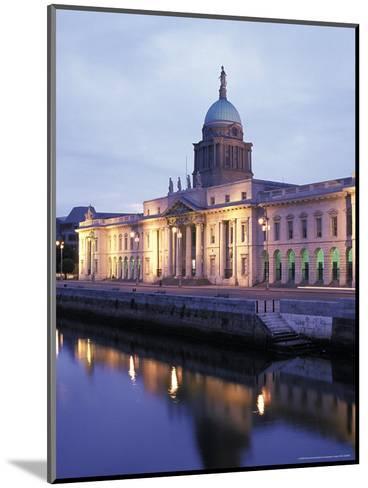 Custom House on Liffey River in Dublin, Ireland-Richard Nowitz-Mounted Photographic Print