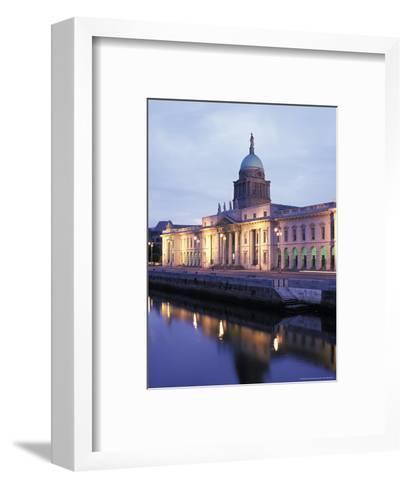 Custom House on Liffey River in Dublin, Ireland-Richard Nowitz-Framed Art Print